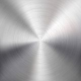 Background with Circular Metal Brushed Texture Stock Images