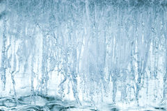 Texture of blue ice surface Royalty Free Stock Photo