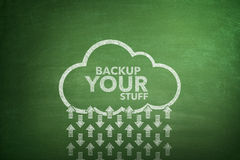 Backup your stuff on Blackboard Royalty Free Stock Photos