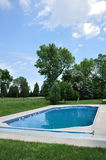 Backyard In-Ground Swimming Pool Royalty Free Stock Image