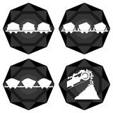 Badges coal industry Stock Image