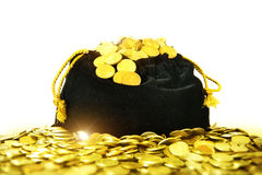 A bag of money. Royalty Free Stock Images
