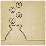 Bag of money symbol Stock Images