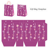 Bag template with stars Stock Images