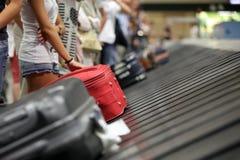 Bagageband bij luchthaven Royalty-vrije Stock Foto