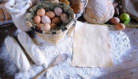 Bakery recipe. Stock Photos