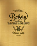 Bakery vintage bread label background Royalty Free Stock Images