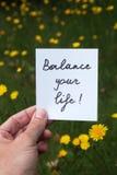 Balance your life Stock Image