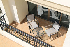 Balcony with Furniture Royalty Free Stock Photo
