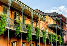 Balcony with Plants 12 in the French Quarter New Orleans USA Stock Photos
