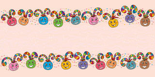 Ball swirl happy banner colorful Royalty Free Stock Photos