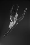 Ballerina in jump Royalty Free Stock Photos