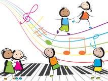 Bambini di musica Fotografia Stock