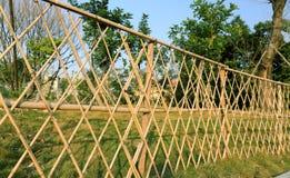 Bamboo garden fence Royalty Free Stock Photo