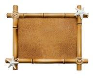 Bamboo frame isolated on white background Stock Image