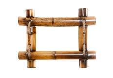 Bamboo photo frame Royalty Free Stock Photo