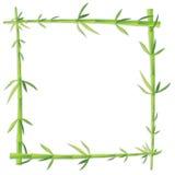 Bamboo photo frame on blank Royalty Free Stock Photos
