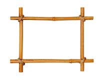 Bamboo photo frame isolated on white background. Stock Photography