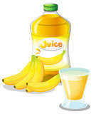 Banana fruit and juice Stock Images