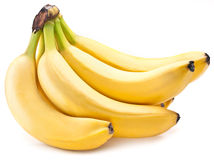 Banana fruits on over white. Stock Photography