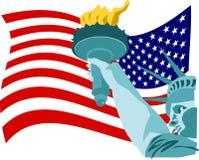 Bandeira da liberdade Foto de Stock