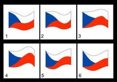 Bandeira de Checo da animação Foto de Stock Royalty Free