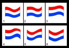 Bandeira de Países Baixos da animação Imagem de Stock Royalty Free