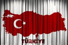 A bandeira de Turquia, o projeto do mapa e a apresentação estudam Fotografia de Stock