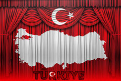 A bandeira de Turquia, o projeto do mapa e a apresentação estudam Imagem de Stock
