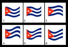 Bandeira do cubano da animação Fotos de Stock Royalty Free