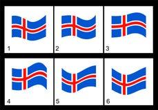 Bandeira do islandês da animação Fotos de Stock Royalty Free