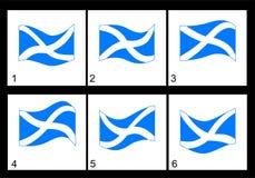 Bandeira do Scottish da animação Imagens de Stock Royalty Free