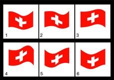 Bandeira do suíço da animação Fotografia de Stock Royalty Free