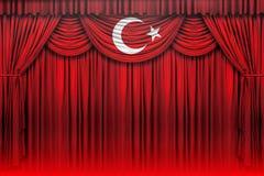 Bandeira turca, Turquia, projeto da bandeira Imagem de Stock Royalty Free