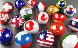 Bandeiras de país internacional Foto de Stock