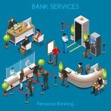 Bank Office 02 People Isometric Stock Image
