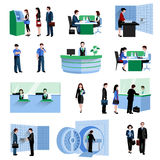 Bank People Set Stock Photos