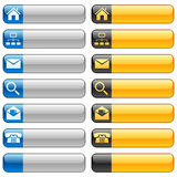 Banner buttons with web icons Royalty Free Stock Photo