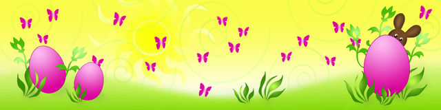 Banner Easter Bunny Stock Photography