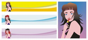 Banners for websites Beauty Royalty Free Stock Photos