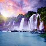 Banyue waterfall Stock Images