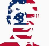 Barack Obama flag illustration Royalty Free Stock Photo