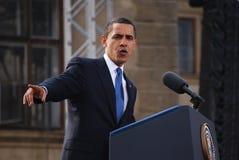 Barack Obama in Praag Stock Foto