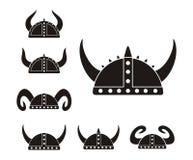 Barbarian helmet - pictogram Stock Images