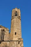 Barcelona: medieval Tower of Santa Agata Chapel Stock Photography