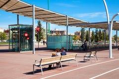 Entrance of Metro station Gorg. Barcelona Royalty Free Stock Photography