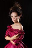 Baroque woman in historical costume with crinoline Royalty Free Stock Images