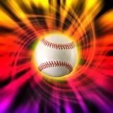 Baseball color swirl Stock Images