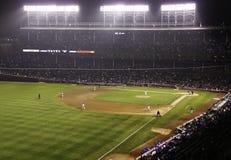 Baseball - Wrigley Field at Night Royalty Free Stock Images