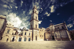 Basilica Church of the Holy Cross. Lecce, Italy Royalty Free Stock Photos